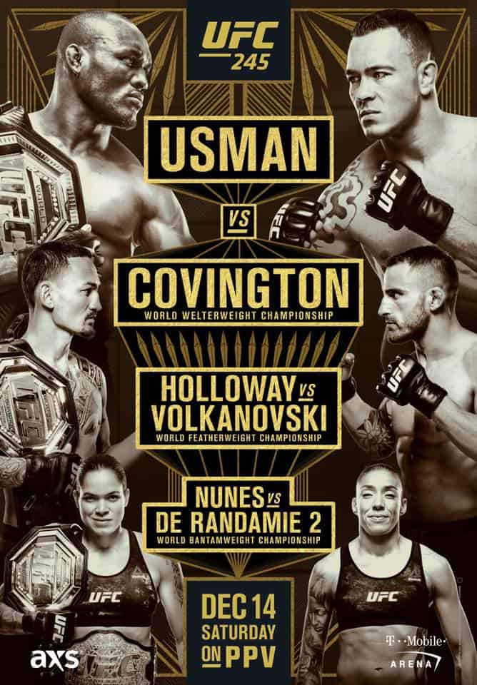 UFC 245: Usman vs. Covington 1