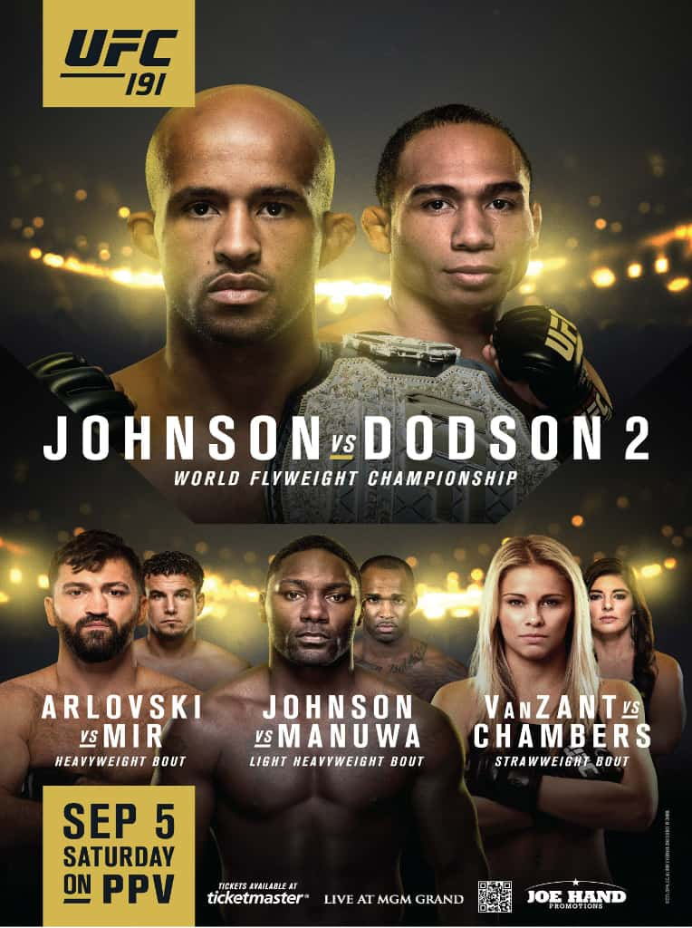 UFC 191: Johnson vs. Dodson 2 1