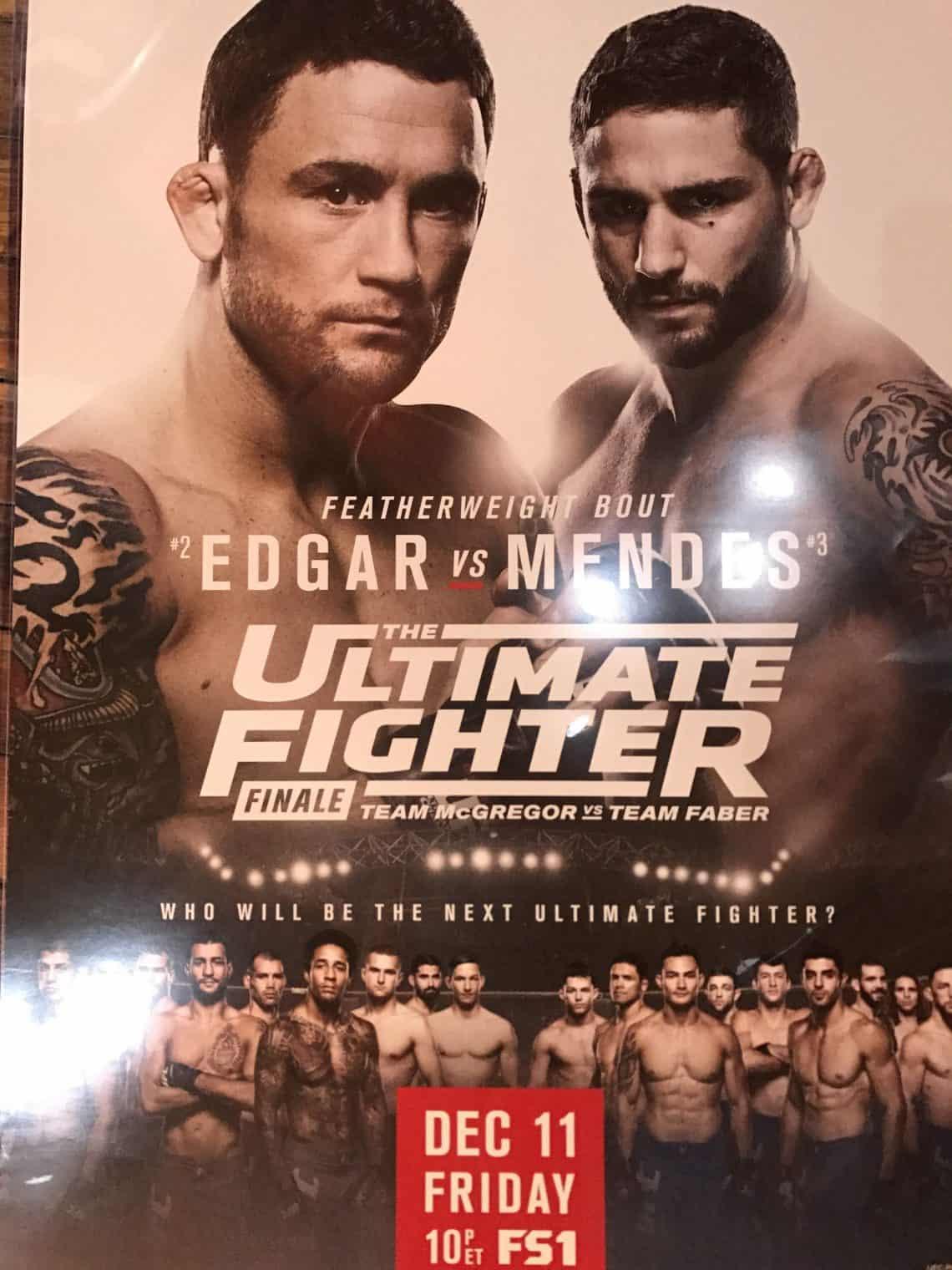 The Ultimate Fighter: Team McGregor vs. Team Faber Finale 1