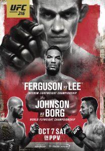 UFC 216: Ferguson vs. Lee 2