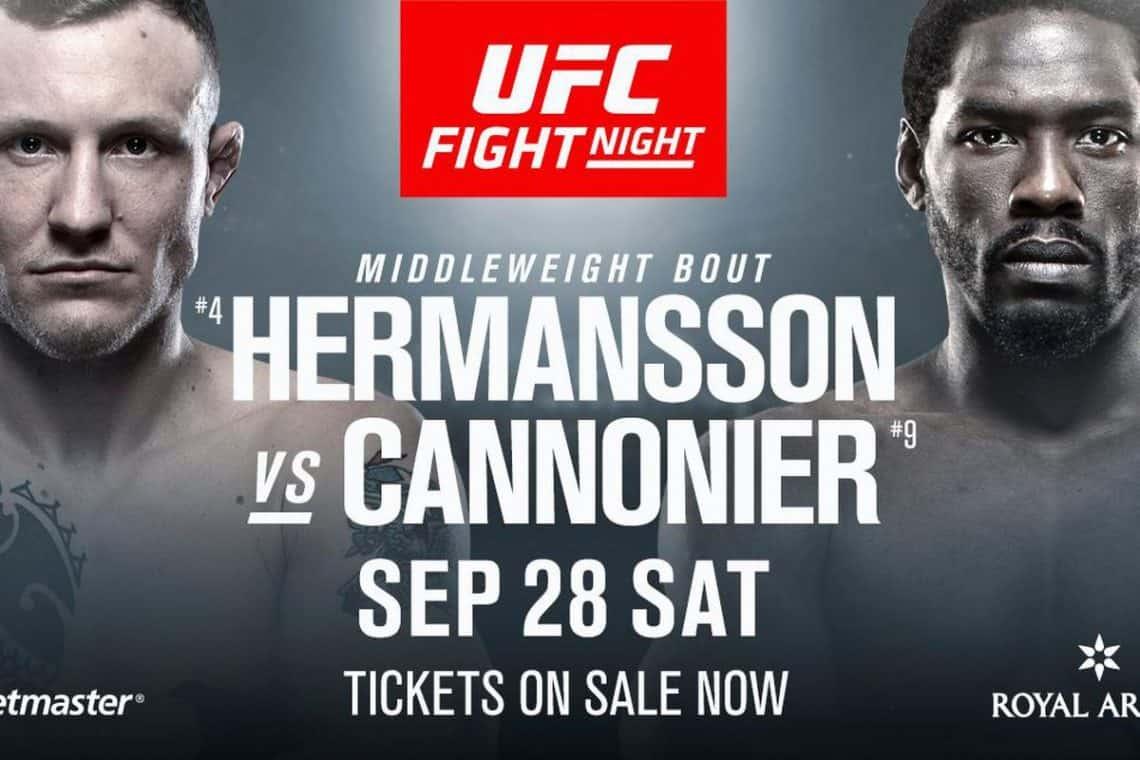 UFC Fight Night: Hermansson vs. Cannonier 1