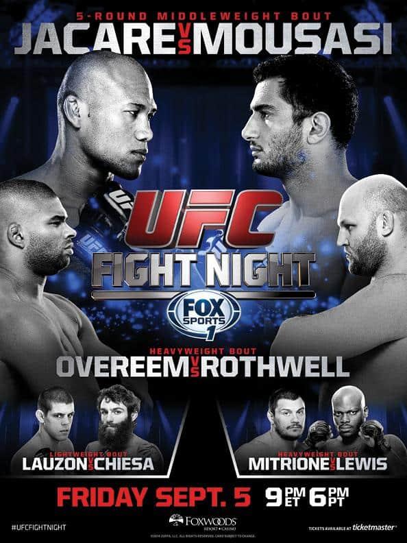 UFC Fight Night: Jacaré vs. Mousasi 1