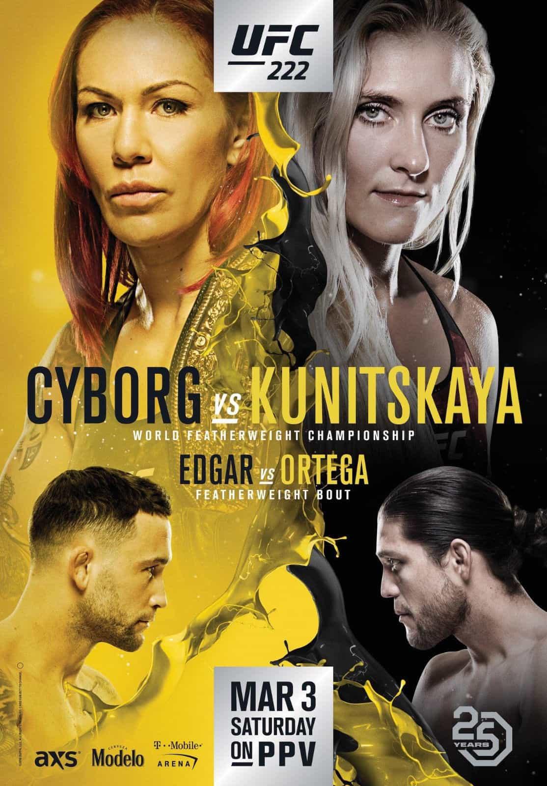 UFC 222: Cyborg vs. Kunitskaya 1