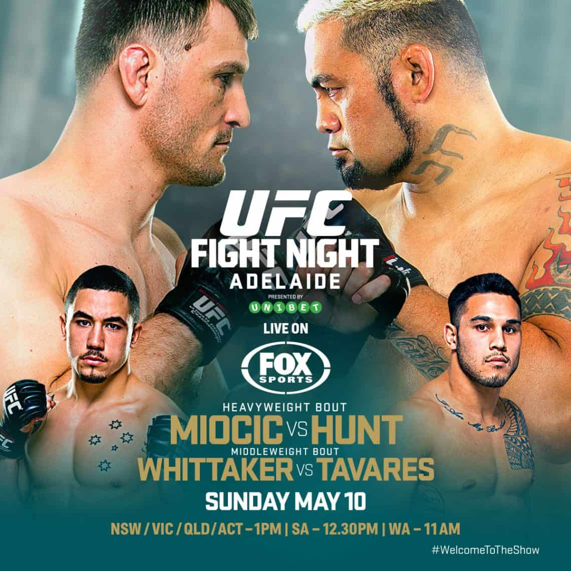 UFC Fight Night: Miocic vs. Hunt 1