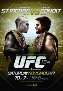 UFC 154: St-Pierre vs. Condit 2