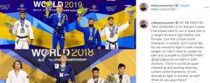 Mikey Musumeci chiede alla IBJJF di combattere in due classi di peso al Mundial 2