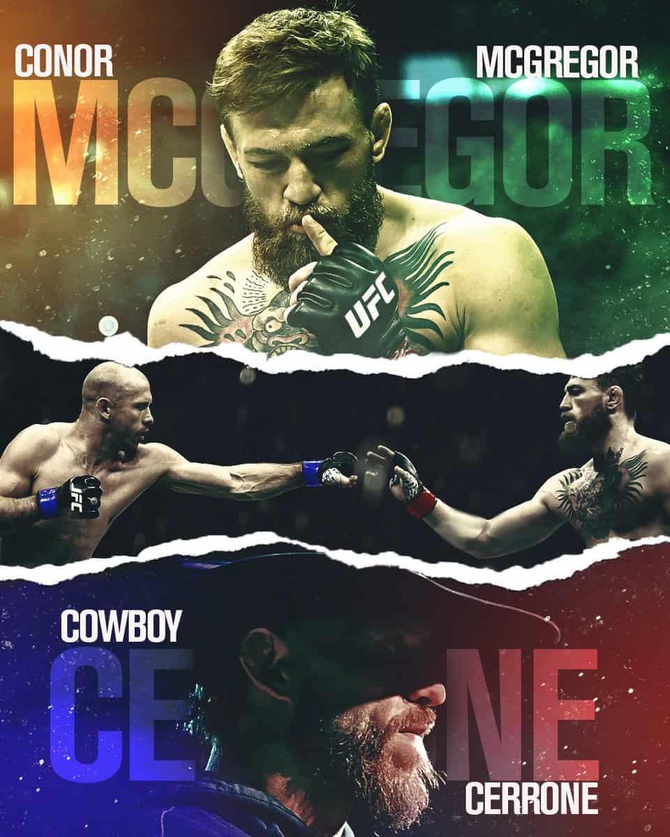 McGregor vs Cerrone: dove vederlo, a che ora... TUTTO quello che devi sapere 1