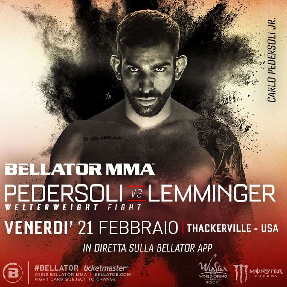 Bellator 239: Carlo Pedersoli jr vs Lemminger 1