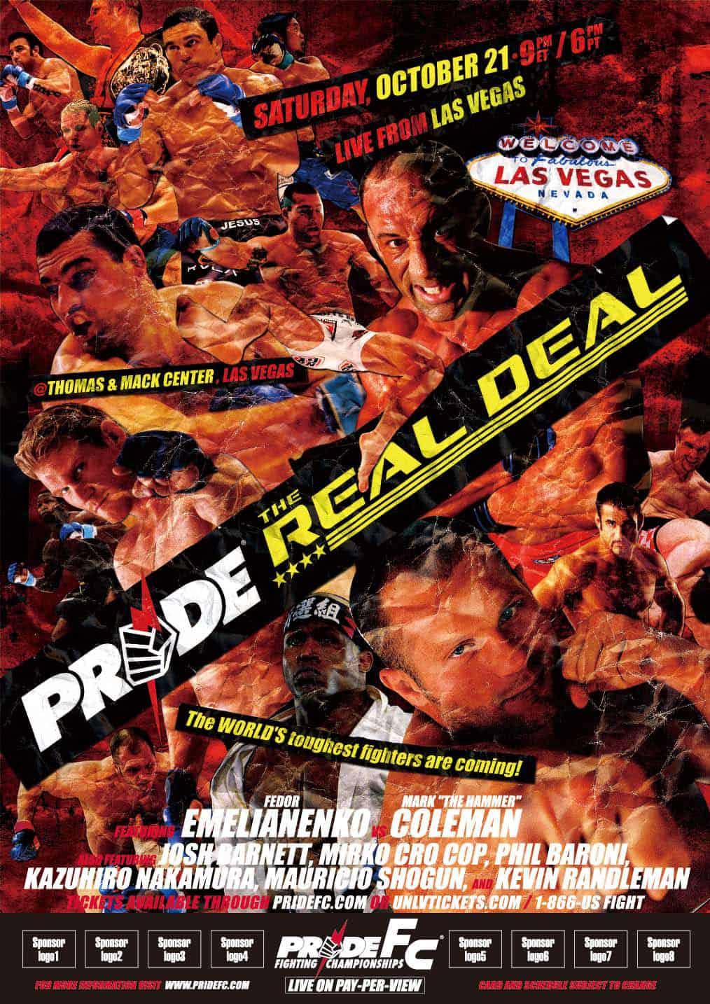 Tutti gli eventi PRIDE FC MMA 105