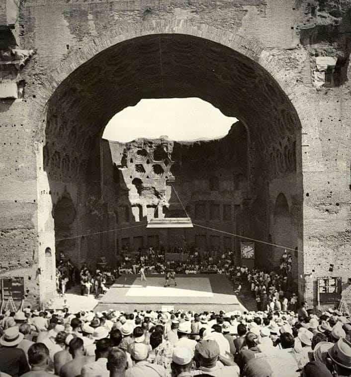 Olimpiadi Roma 1960: La lotta in uno scenario mozzafiato. 4