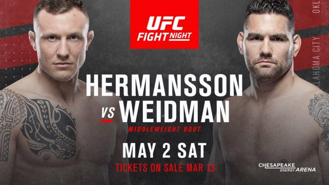 UFC Fight Night 174: Hermansson vs. Weidman 1