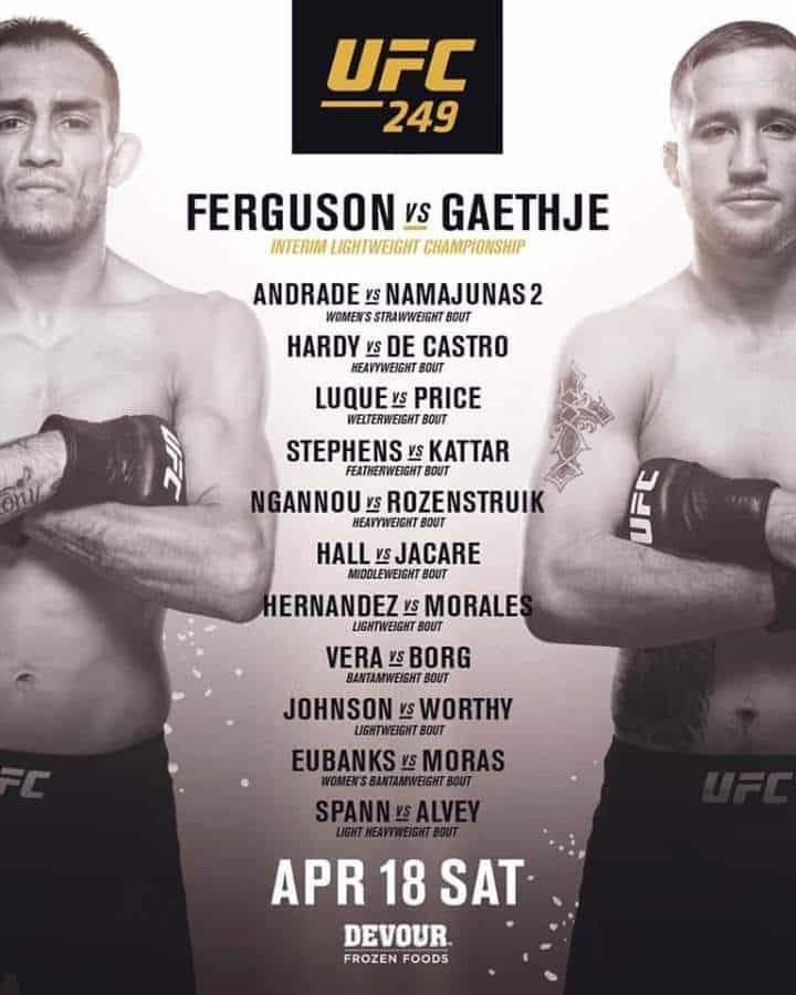 UFC 249: Gaethje vs. Ferguson 4
