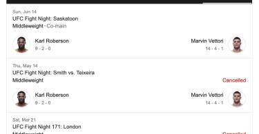 Marvin Vettori nel Main event di sabato 8