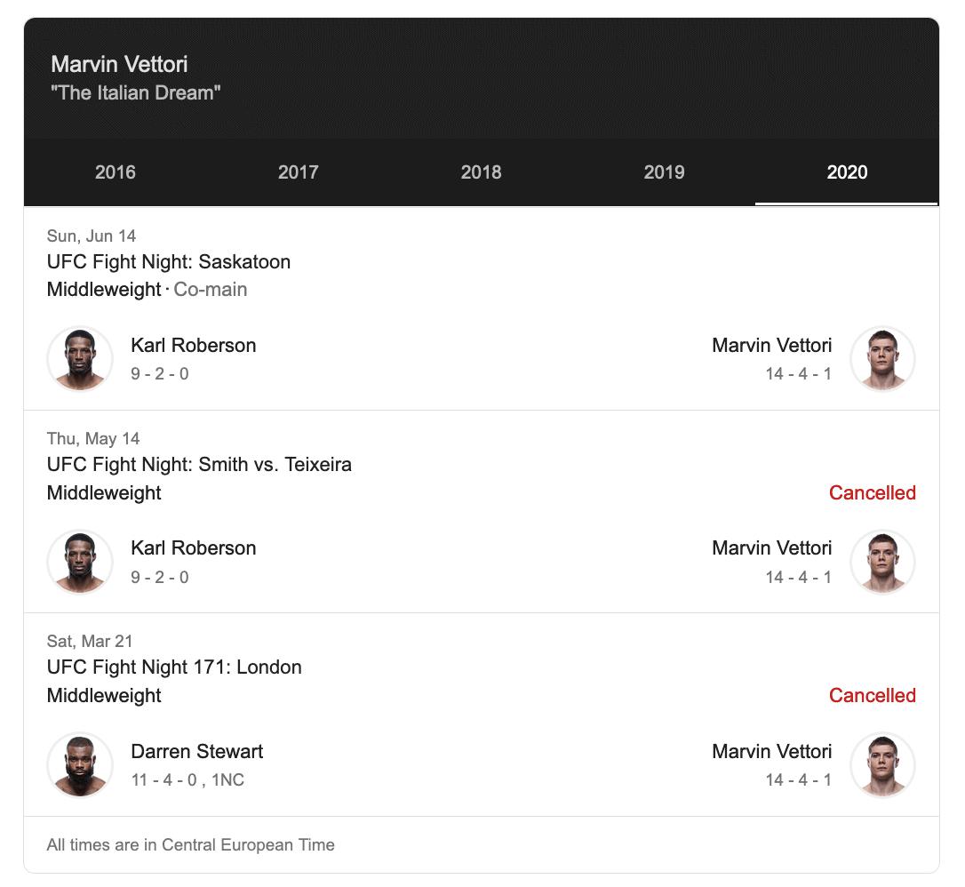 Marvin Vettori nel Main event di sabato 10