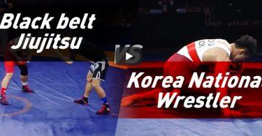 Olimpionico di lotta vs cintura nera di BJJ in un match misto Lotta & Grappling 37
