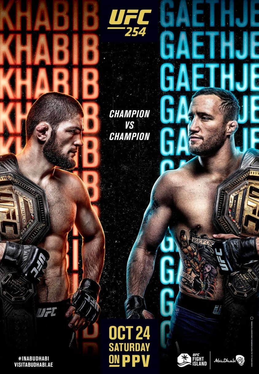 Risultati UFC 254: Khabib vs. Gaethje 2