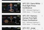 Piccola analisi dei numeri UFC 251 su Youtube. 15