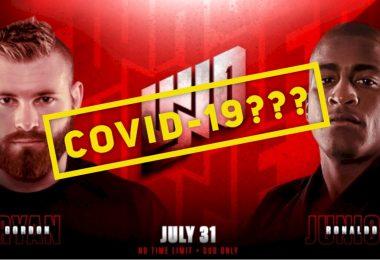 Gordon Ryan e Craig Jones hanno sintomi del Covid-19, non lotteranno il 31 3