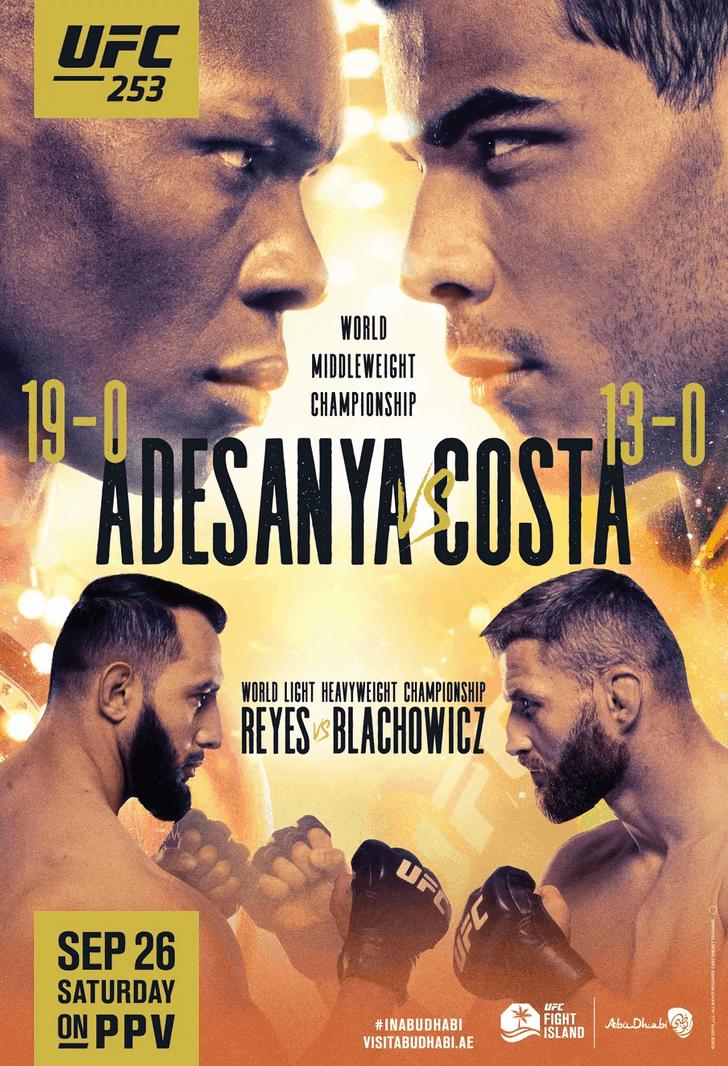 UFC 253: Adesanya vs Costa 1