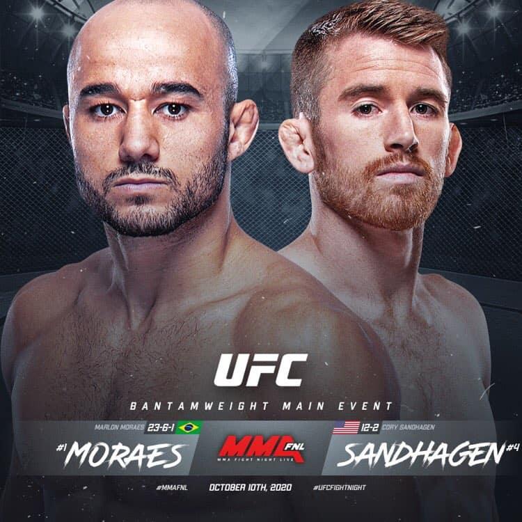 UFC Fight Night 179: Moraes vs Sandhagen 1