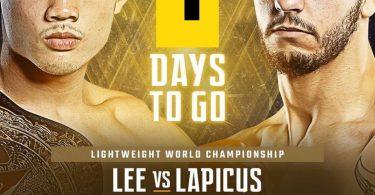 Iuri Lapicus per il titolo dei pesi leggeri ONE Fc 4
