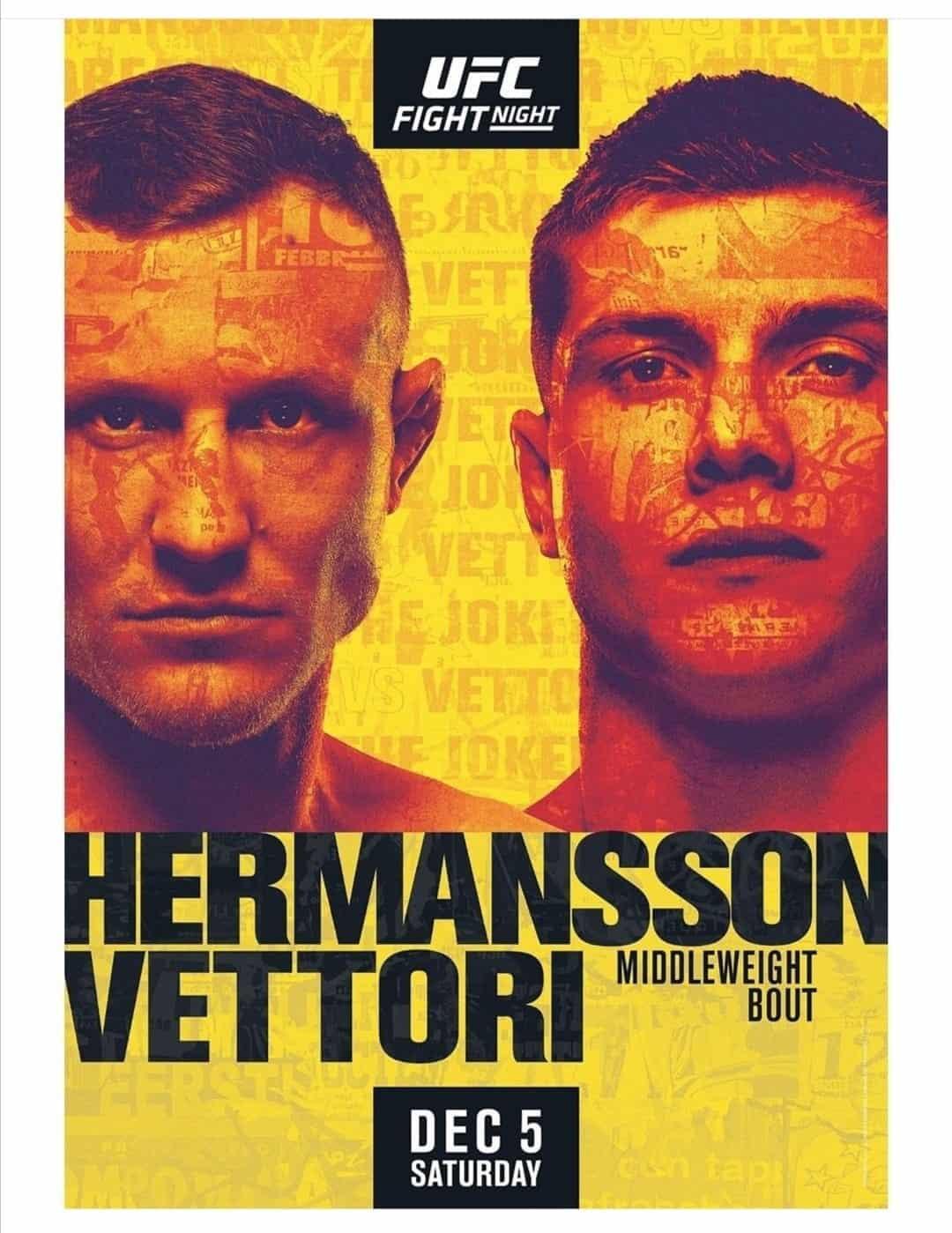 UFC on ESPN 19: Hermansson vs. Vettori 1