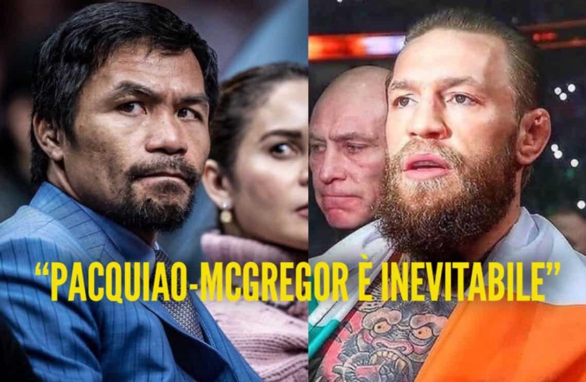 """Il manager di McGregor: """"Il prossimo match sarà con Pacquiao"""" 1"""