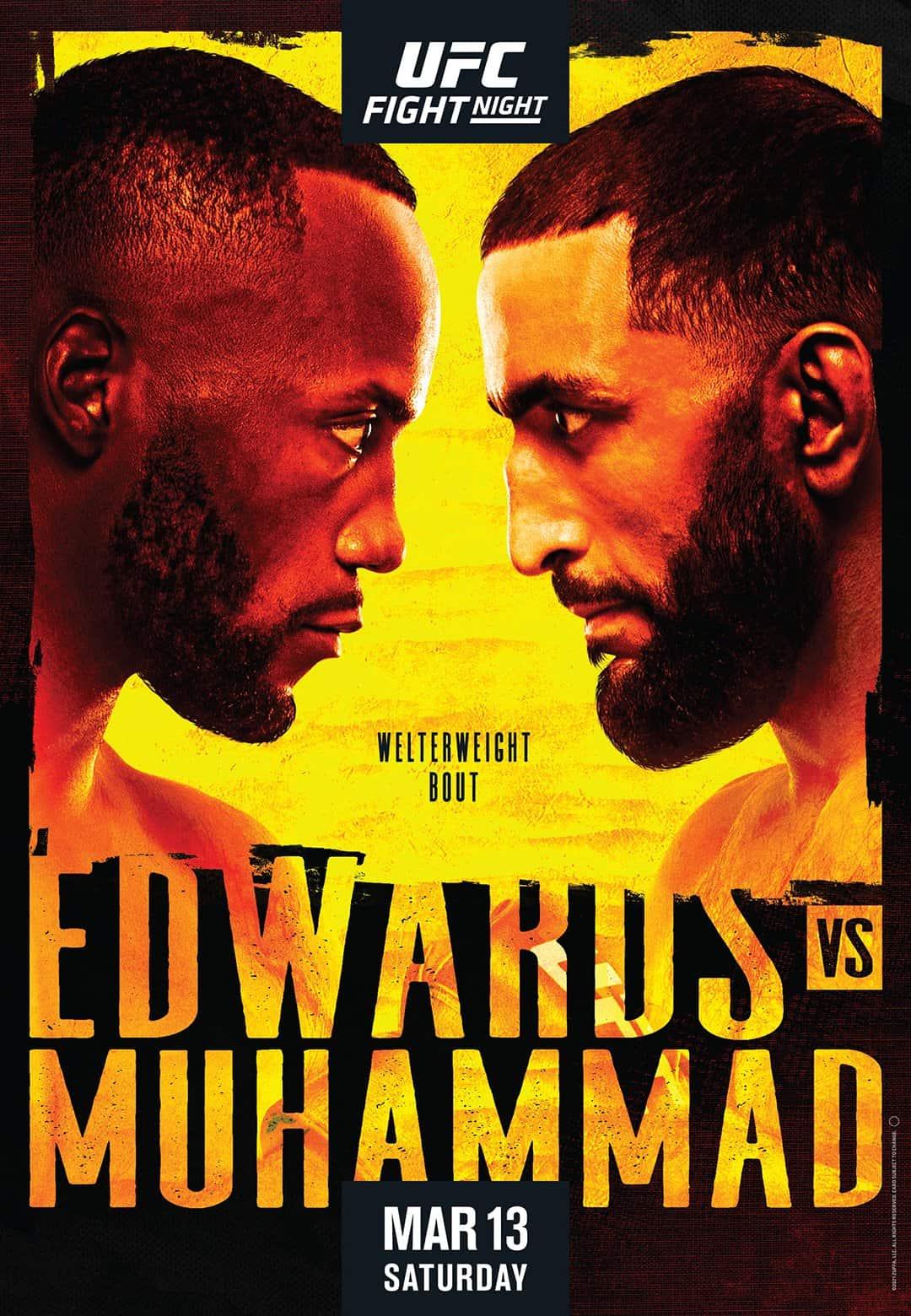 Risultati UFC fight night 187: Edwards vs Muhammad 1