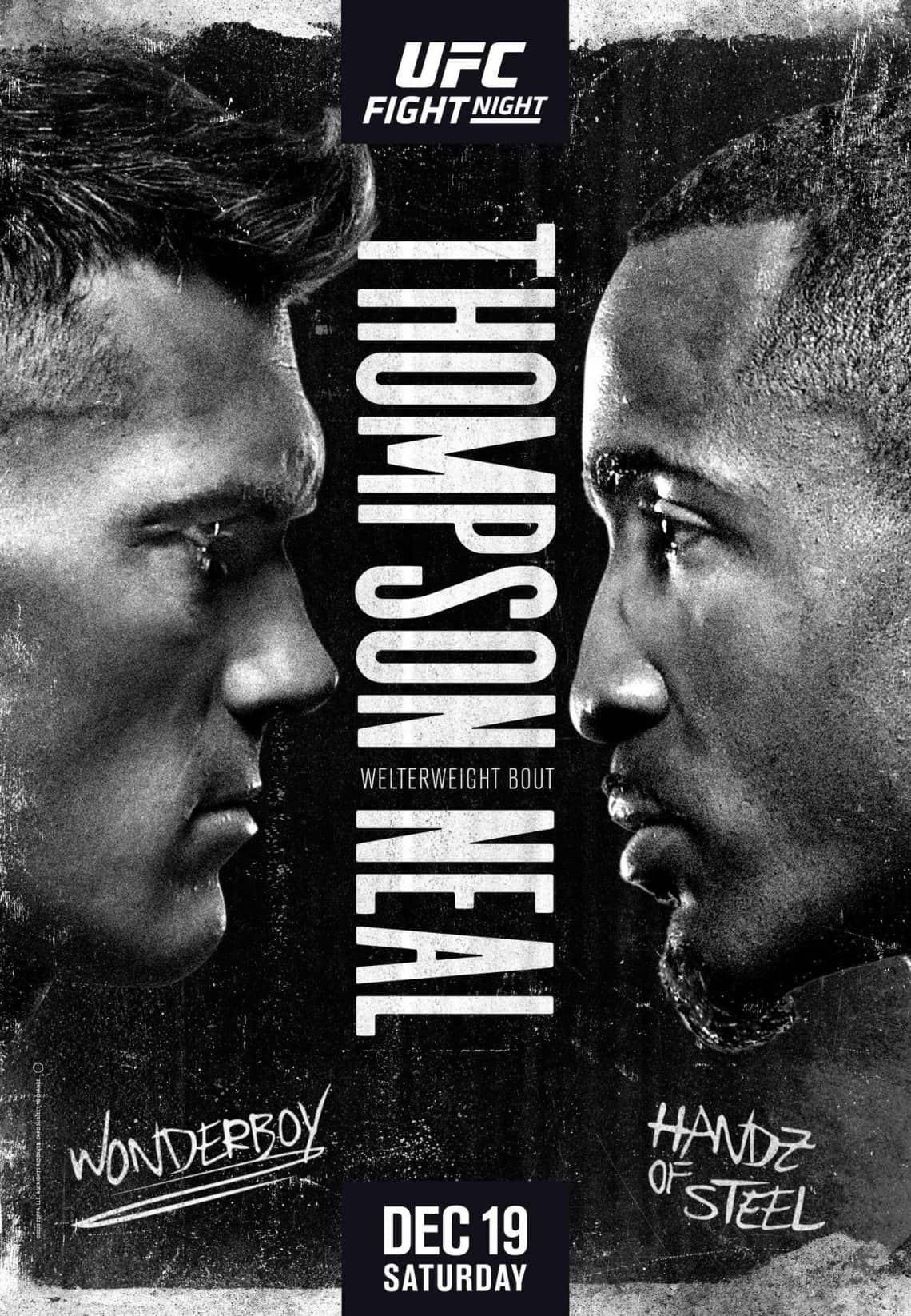 UFC fight night 183: Thompson vs Neil 1