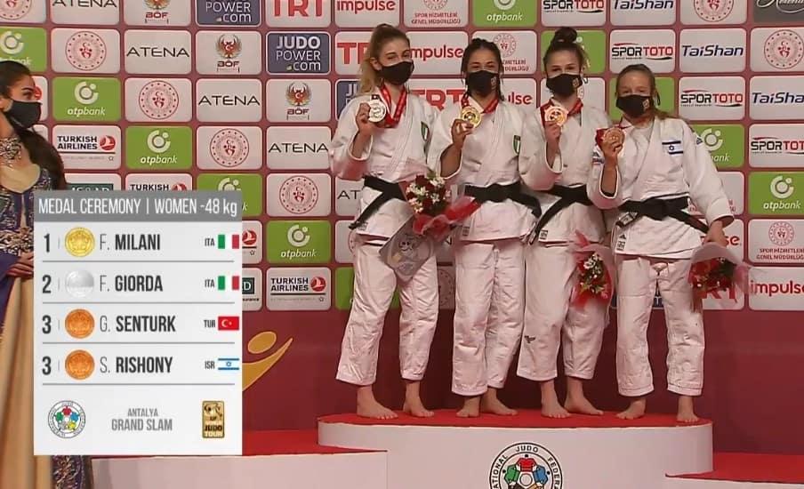Primato dell'Italia nel medagliere del Grand Slam di Antalya 1