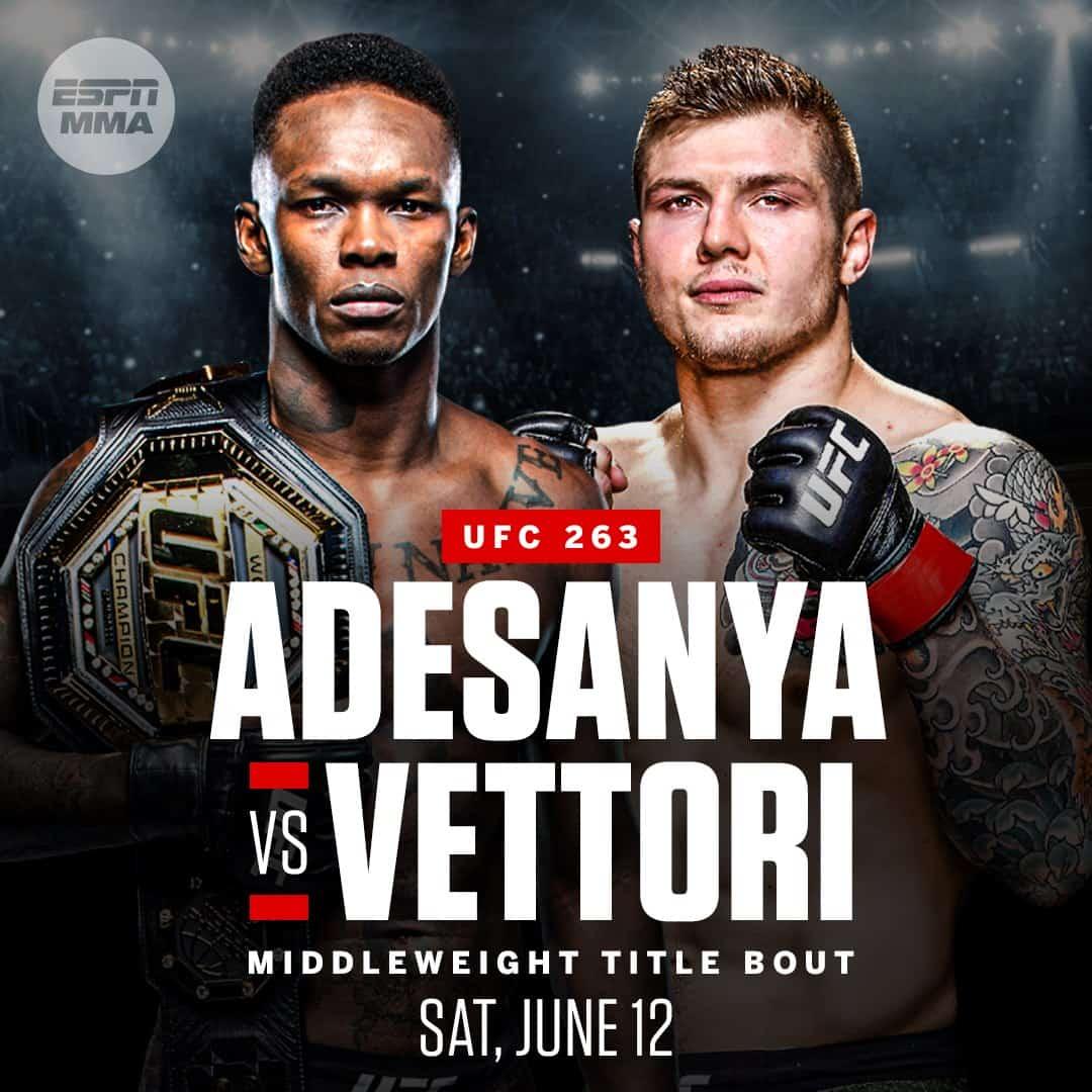 UFFICIALE: Marvin Vettori vs Israel Adesanya 2 all'UFC 263 1