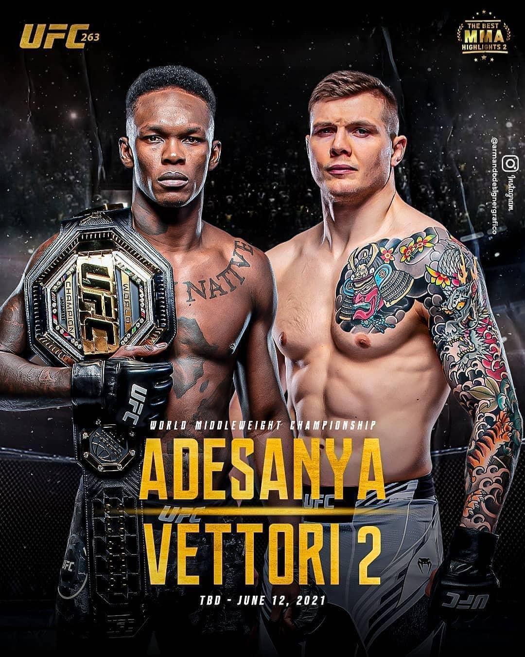 UFC 263: Adesanya vs Vettori 2 2