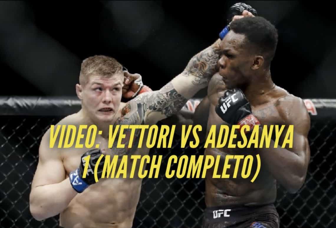Video: Marvin Vettori vs Israel Adesanya 1 (Match Completo) 1