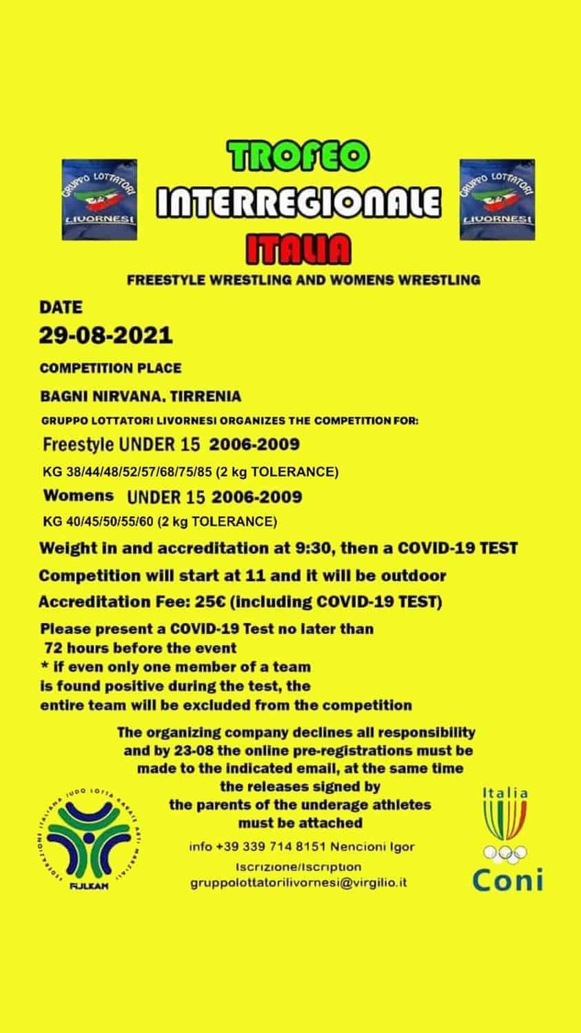 Trofeo interregionale Lotta - Tirrenia 2021 1
