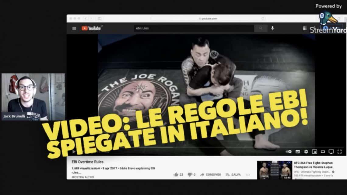 VIDEO: le regole EBI spiegate in italiano! 1