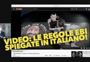 VIDEO: le regole EBI spiegate in italiano! 8