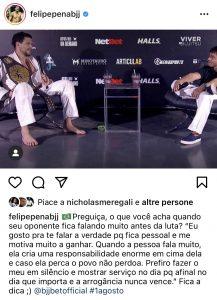 Meregali e Felipe Pena alimentano la rivalità sui social 2