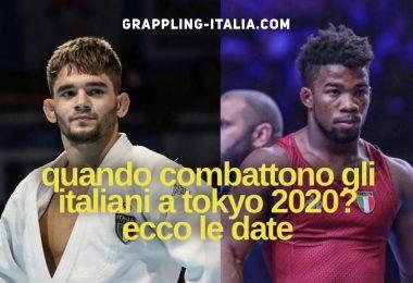 Ecco i giorni delle lotte degli italiani in Judo e Lotta a Tokyo 2020 7