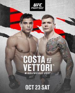 UFC: Vettori vs Costa, dove e quando vederlo e tutte le info 2
