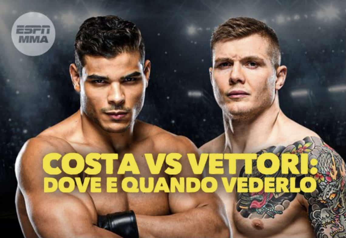 UFC: Vettori vs Costa, dove e quando vederlo e tutte le info 1