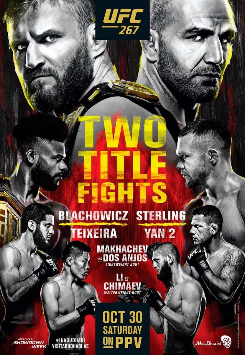 UFC 267: Blachowicz vs. Teixeira 1