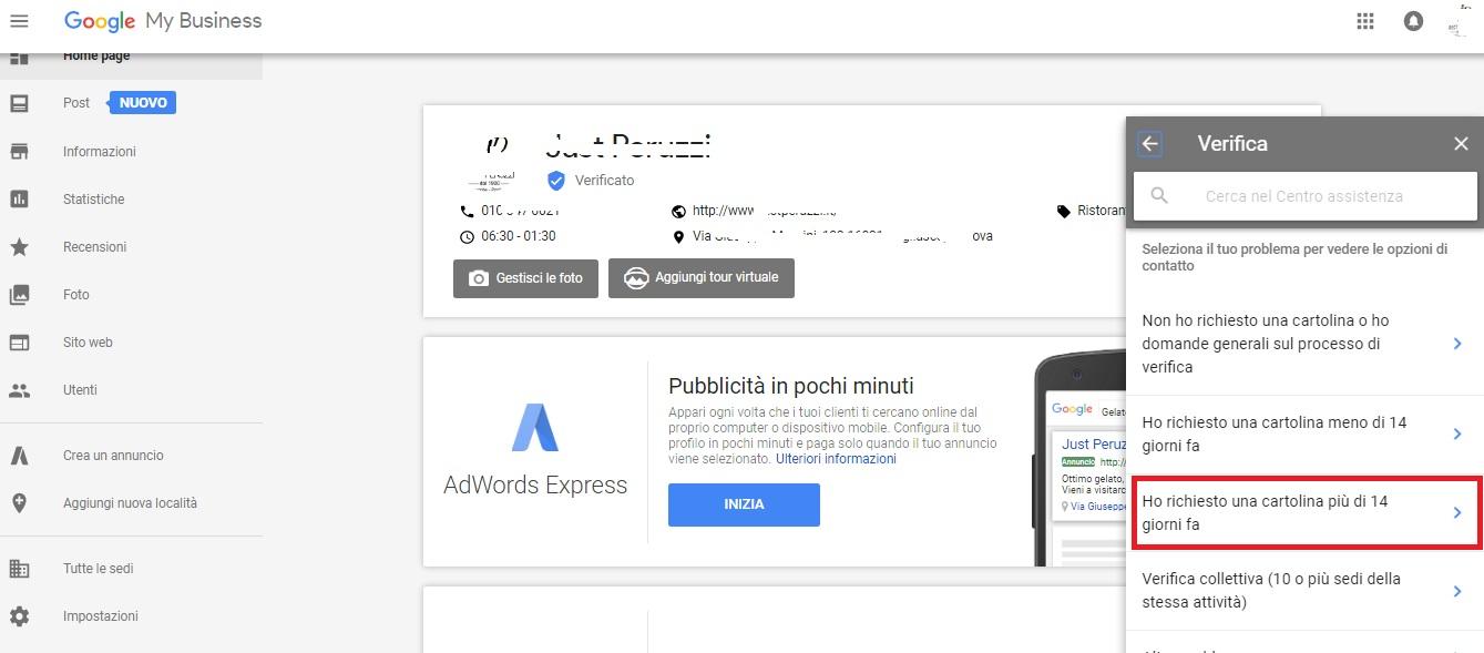 contattare assistenza google mybusiness