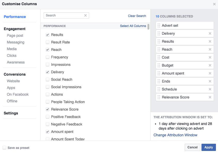 facebook ads website clicks