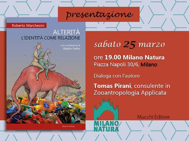 """Roberto Marchesini presenta """"ALTERITA' - L'IDENTITA' COME RELAZIONE"""