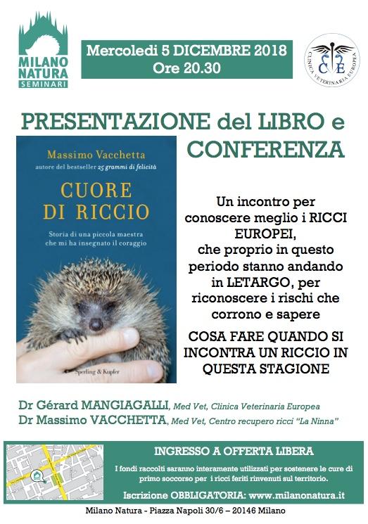 CUORE DI RICCIO: presentazione e conferenza
