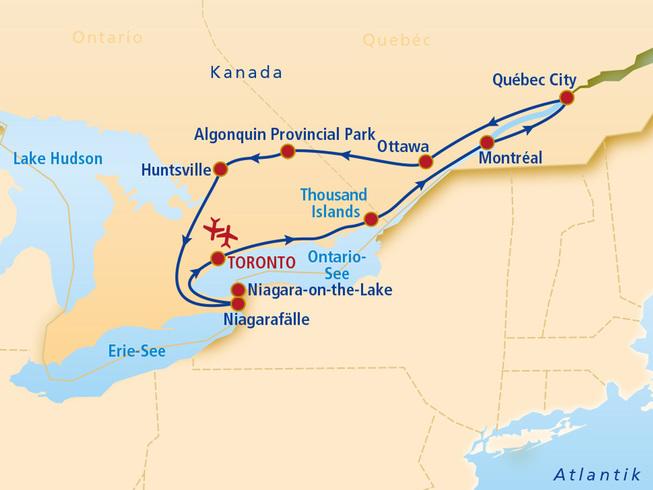 kanada osten rundreise
