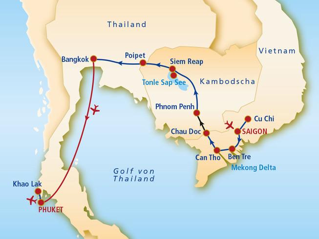 Vietnam Kambodscha Thailand Mittelklasse-Hotels