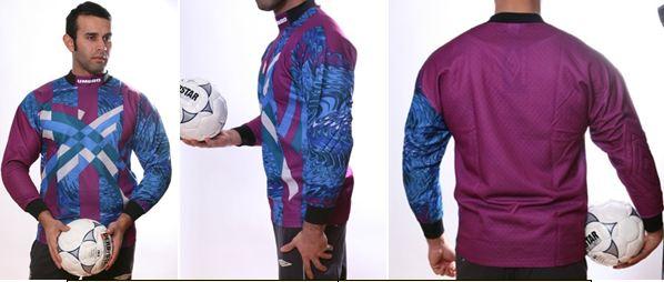 Fußball Torwart Trikots von UMBRO - 10 verschiedene Modelle - hier art.nr. 996 Brombeer_gruen_blau