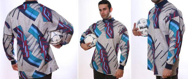 Fußball Torwart Trikots von UMBRO - 10 verschiedene Modelle - hier art.nr. 991 Grau_gruen_weinrot