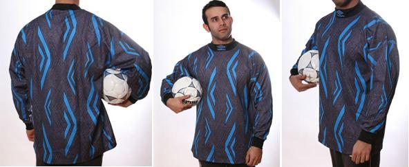 Fußball Torwart Trikots von UMBRO - 10 verschiedene Modelle - hier art.nr. 992 grau_blau und blau_lila